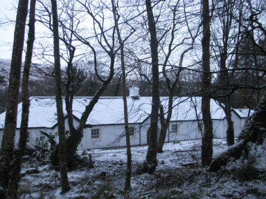 Bluebird Cottage - Winter view from Kilmchael woods - larger image