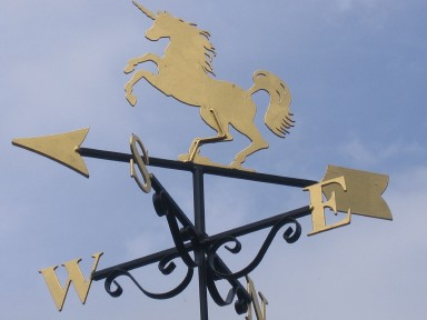 Wren Cottage - The unicorn weather vane - larger image