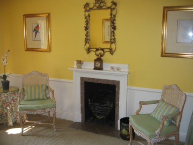 The Byre Suite - Sitting room with living-flame fire - larger image